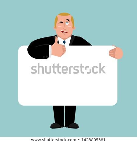президент баннер Boss белый бизнесмен Сток-фото © popaukropa