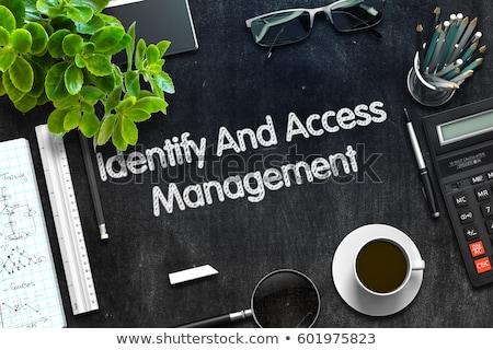 acessar · gestão · negócio · alto-falante · texto - foto stock © tashatuvango