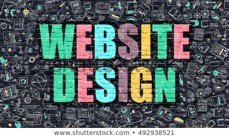 Website Design in Multicolor. Doodle Design. Stock photo © tashatuvango