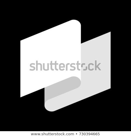 Witte vlag nederlaag symbool tape business Stockfoto © popaukropa