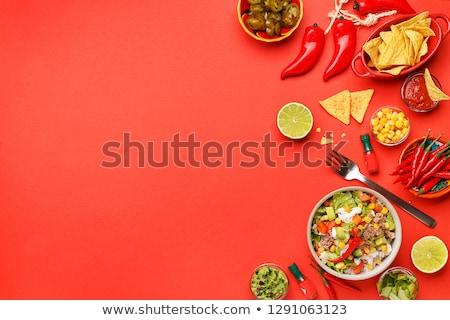 Mexican tabeli żywności zielone Zdjęcia stock © wavebreak_media