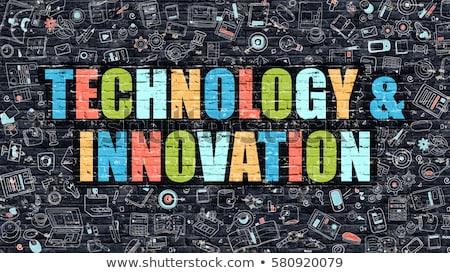 Innovation Concept. Multicolor on Dark Brickwall. Stock photo © tashatuvango