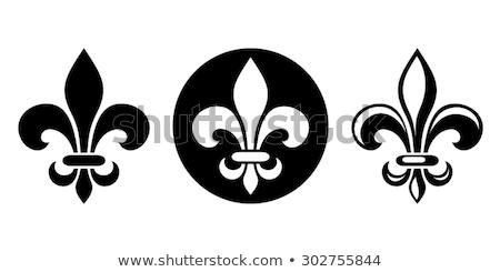 Símbolos establecer Lily real francés heráldica Foto stock © Genestro