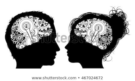Machine Workings Gears Cogs Brain Man Concept Stock photo © Krisdog