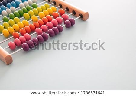 Colorido números pizarra nino educación Foto stock © almaje