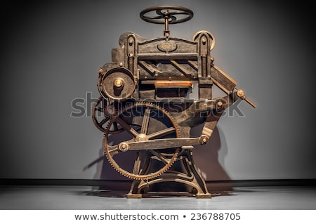 Stock photo: old printing machine