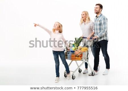 Stock fotó: Boldog · fiatal · család · gyermek · sétál · nő