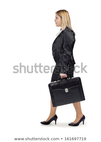 3D деловой женщины ходьбе портфель деловые люди иллюстрация Сток-фото © texelart