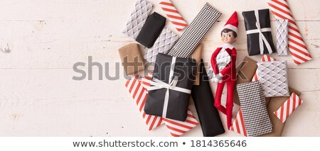 many cute toys on wooden shelves stock photo © bluering