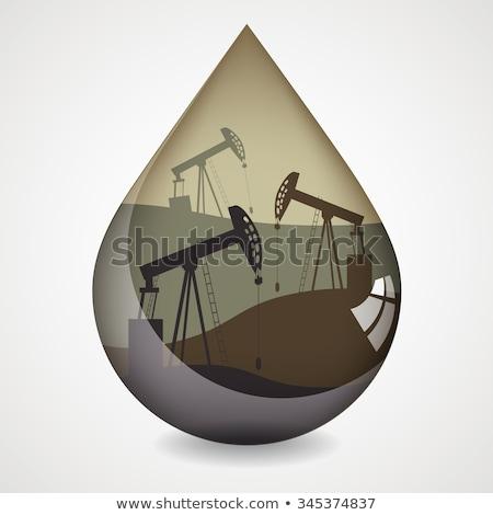 Olaj pumpa vektor rajz illusztráció izolált Stock fotó © RAStudio