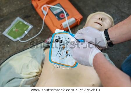 Sanitäter Frau Mann Web Kommunikation Stock foto © wavebreak_media