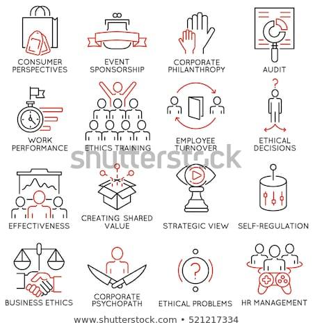 Stockfoto: Iconen · ingesteld · business · beheer · menselijke · middelen