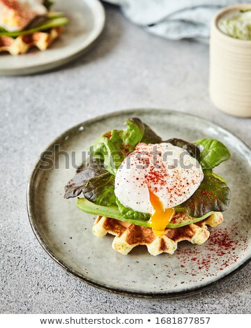 bread toast with egg and avocado Stock photo © M-studio