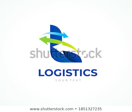 abstract arrow logistic delivery courier transport service logo stock photo © taufik_al_amin