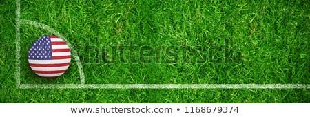Futebol américa cores fechado para cima ver Foto stock © wavebreak_media