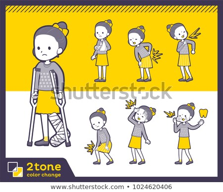 Stockfoto: 2tone Type Polka Dot Clothes Ribbon Girlset 08