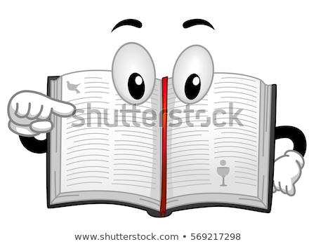 Mascot Bible Book Point Stock photo © lenm