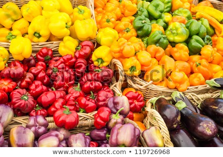 農家 茄子 新鮮な オーガニック 卵 工場 ストックフォト © mythja