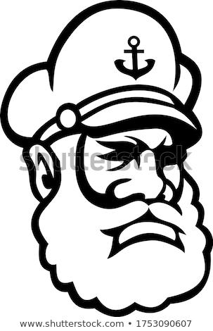 Black Sea Captain or Skipper Mascot  Stock photo © patrimonio