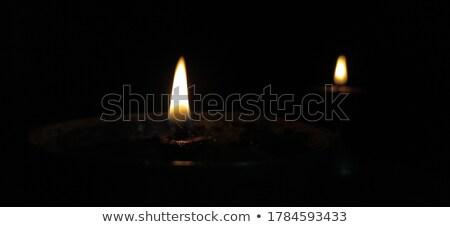 beautiful two diwali festival diya on dark background Stock photo © SArts