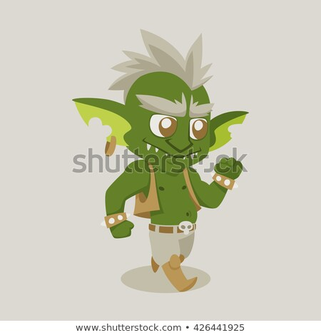 cartoon goblin idea stock photo © cthoman