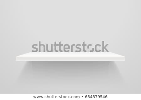 Blanco vacío plataforma pared vector Foto stock © olehsvetiukha