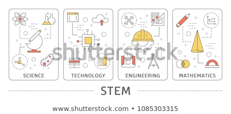 Black and white stem education Stock photo © bluering
