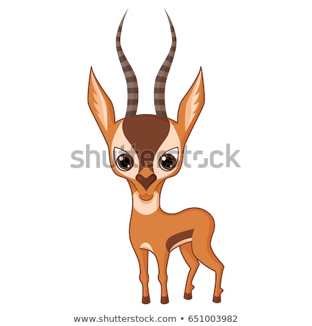 Stock photo: Happy Cartoon Antelope