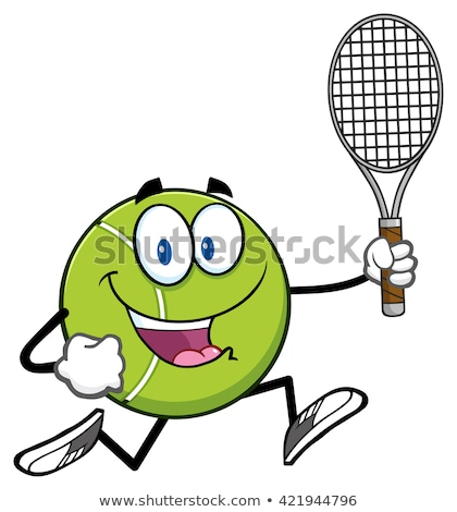pelota · de · tenis · ejecutando · ilustración · aislado - foto stock © hittoon