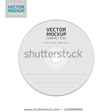 Vecteur disque compact couvrir noir papier Photo stock © TRIKONA