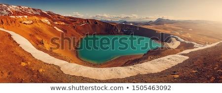 Islândia campo paisagem lama quente lago Foto stock © Kotenko