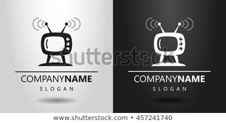 Cartoon flatscreen tv teken illustratie televisie Stockfoto © cthoman