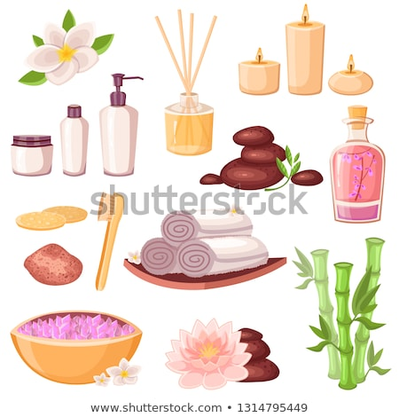 Stones and Candles for Massage and Spa Cartoon Stock photo © robuart
