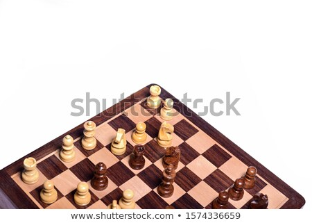 Wooden chess rook Stock photo © bdspn