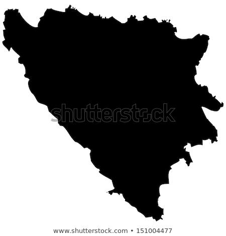 Bosnia Herzegovina mapa icono vector signo mundo Foto stock © blaskorizov