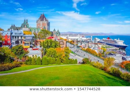 hermosa · histórico · Quebec · ciudad · ventana · árboles - foto stock © Lopolo