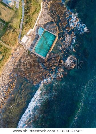 Aerial views of the Coalcliff Ocean pool, Australia Stock photo © lovleah
