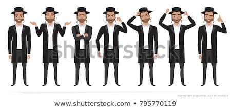 Jewish man jew vector character isolated on white background Stock photo © NikoDzhi
