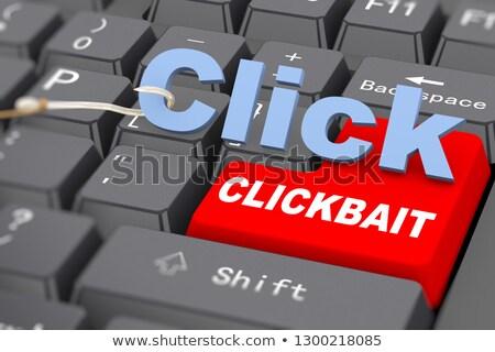 3D haak woord klikken toetsenbord Stockfoto © nasirkhan