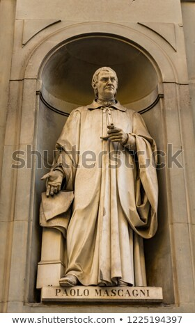 physician paolo mascagni monument in florence italy stock photo © boggy