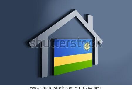 Maison pavillon Rwanda rangée blanche maisons Photo stock © MikhailMishchenko