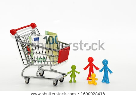 Shopping cart with eur banknote Stock photo © boggy