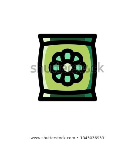 Táska zsák virág mag vektor ikon Stock fotó © nosik