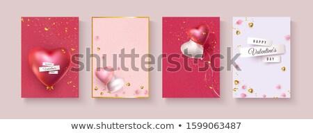 Валентин день текста красный шаров Сток-фото © frimufilms