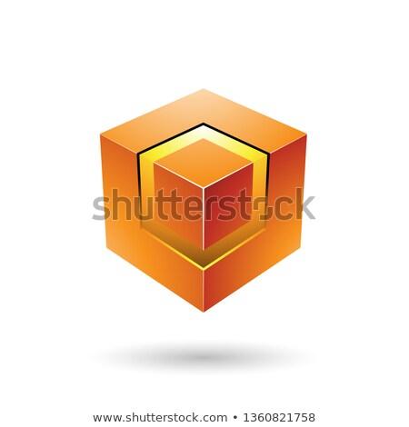 オレンジ キューブ コア ベクトル 実例 ストックフォト © cidepix