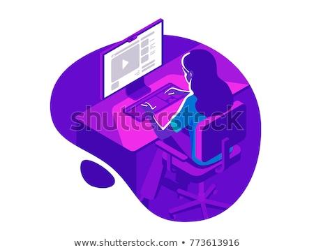 interior color isometric concept icons stock photo © netkov1