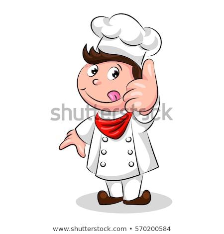 cute funny chef cook in the cap stock photo © netkov1