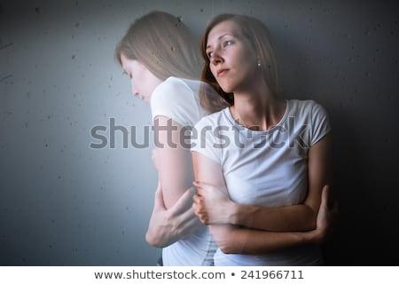 若い女性 · うつ病 · 不安 · 恐怖 · 照明 - ストックフォト © lightpoet