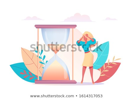 Vector concept time management creative business illustration wi stock foto © Giraffarte