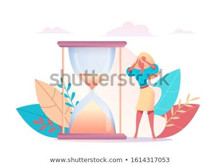 Vector concept time management creative business illustration wi Сток-фото © Giraffarte